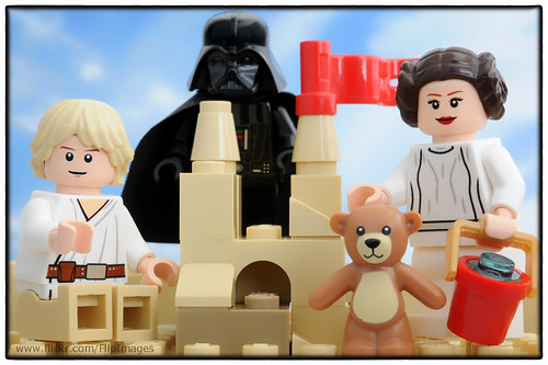 Skywalker Family Fun - Building a Sand Castle with Dad (who doesn't like sand)