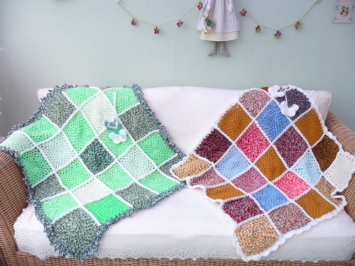 412. 411. Squares from Grace made up into two more beautiful Blankets.