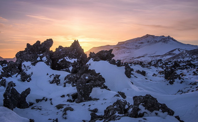 Sunrise at the Lava Field
