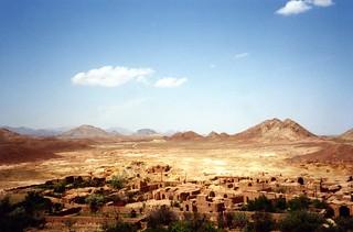 Iran - a village in the desert