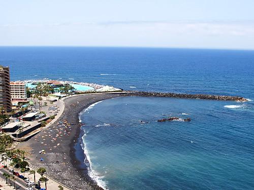 Cafes at Playa Martiánez, Puerto de la Cruz, Tenerife