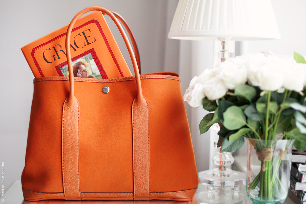 "The Book ""Grace"" by Grace Coddington in my Hermès Garden Party Bag"
