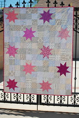 My low volume version of V&Co's Reverse Hopscotch Quilt by idreaminfabric