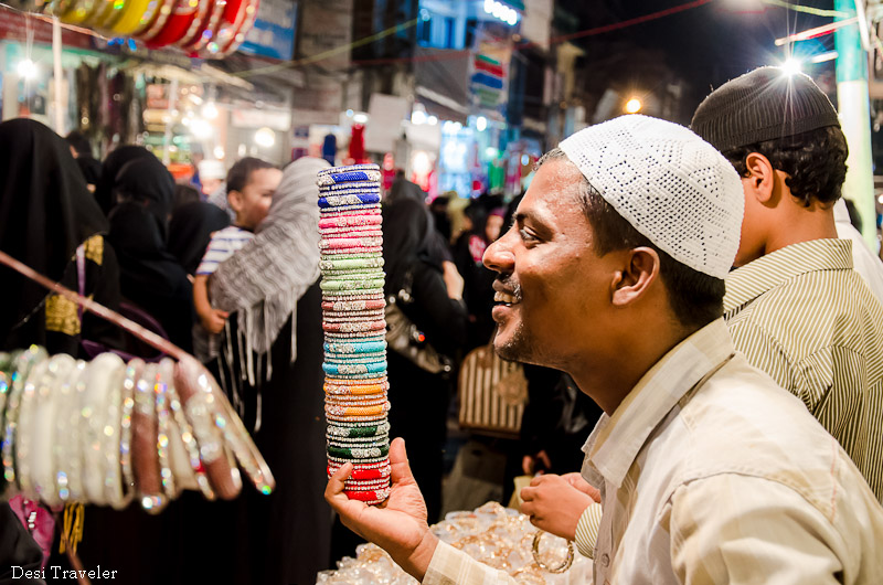 Bangle seller at lad bazar ramazan night market
