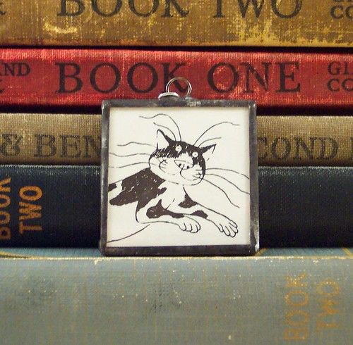 Gorey Cat Pendant