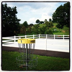#Yellow1 #DiscGolf #SyntheticIceRink @GrandVuePark