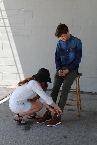 Adidas Neo Anna Roth Milner Maxwell Runko fall campaign shoot Los Angeles lisforlois