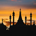 Brighton pavilion at sunset