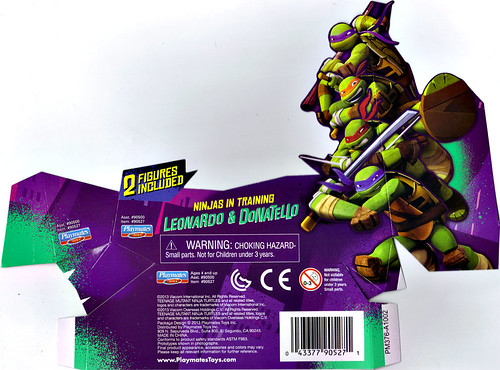 Nickelodeon  TEENAGE MUTANT NINJA TURTLES :: NINJAS in TRAINING, LEONARDO & DONATELLO ..card insert  (( 2013 ))