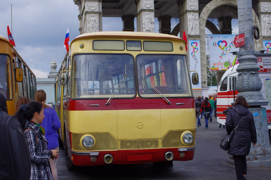 Moscow museum bus LiAZ-677