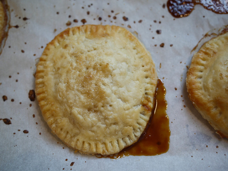 Pear-caramel hand pies