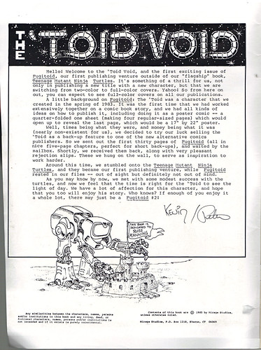"The Original ""FUGITOID #1"" ii // 'TOID VOID' (( 1985 ))"