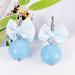 Small photo of De azuurblauwe lint + ABS Oorbellen