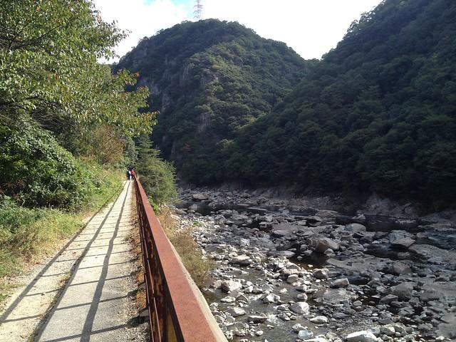 旧福知山線廃線跡-渓谷