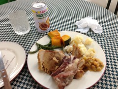 Food at the Brazilian Plaza