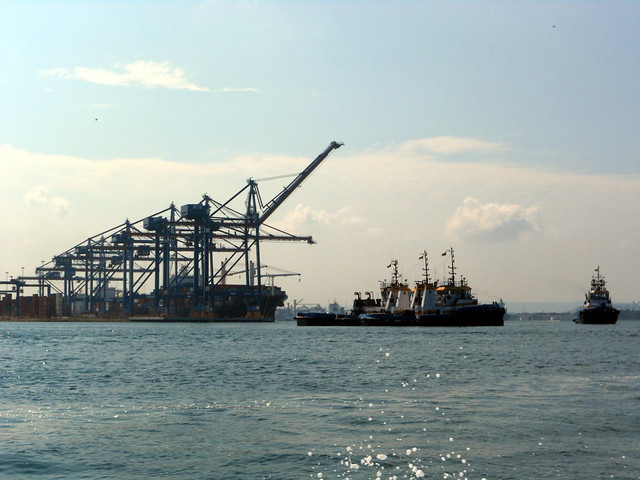 Industrial Cartagena by sea