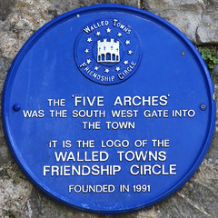 Photo of Five Arches, Tenby blue plaque