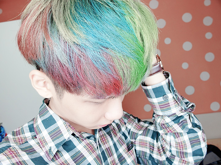 dye rainbow colour
