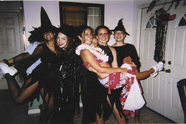 My 15 year old self, and group of friends, trick-or-treating for the last time.