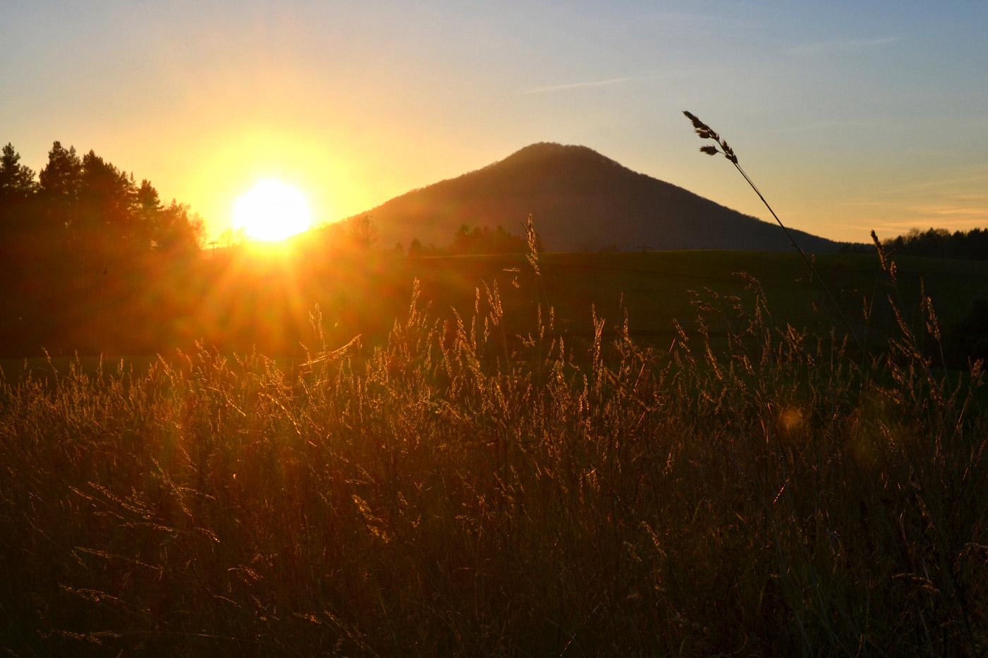 Sonnenuntergang am Rosenberg