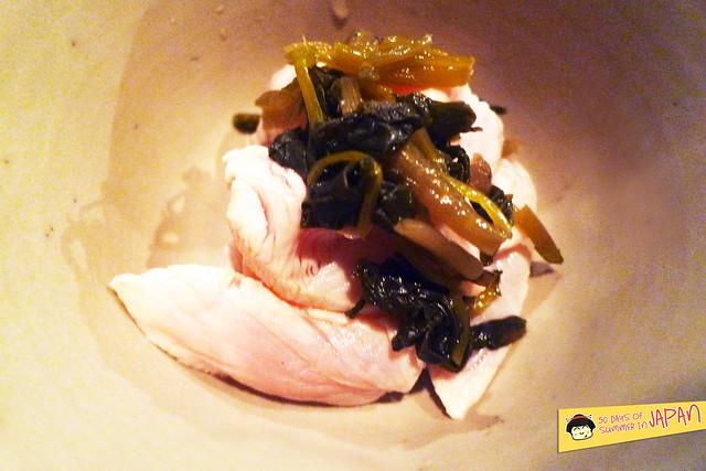 Tori Tama - sashimi - wasabi