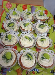 plate of halloween cupcakes