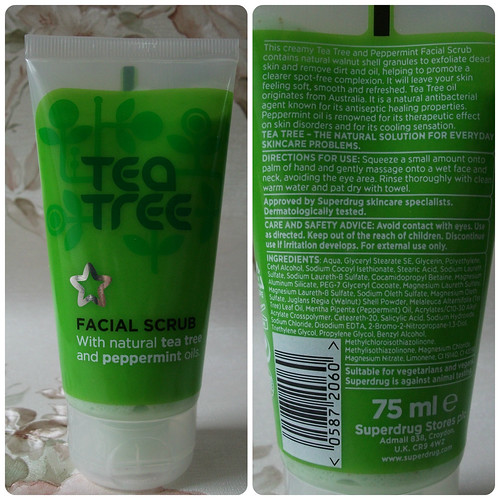 Superdrug Tea Tree & Peppermint Facial Scrub Review