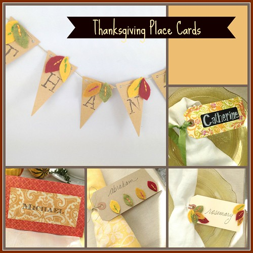 Autumn Hathaway Diy Thanksgiving Place Cards And Banner Flags