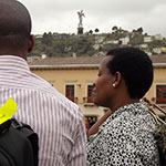 Ms. Hope Tumukunde, Vice Mayor of Kigali, visiting the old town of Quito. Photo: UN Women