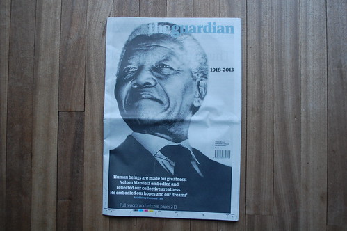 The Guardian - Nelson Mandela death