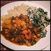 Moroccan Stew from #chinastudycookbook and California Creamed Kale from #eattolivecookbook . Yum!