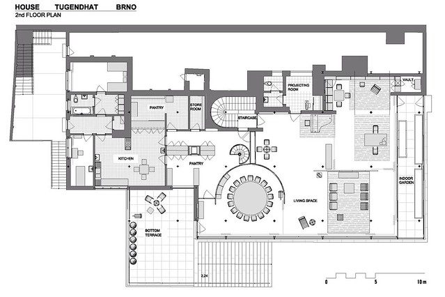 floorplan villa tugendhat flickr photo sharing. Black Bedroom Furniture Sets. Home Design Ideas