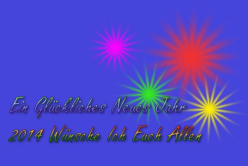 Ein Glückliches Neues Jahr 2014 Wünsche Ich Euch Allen
