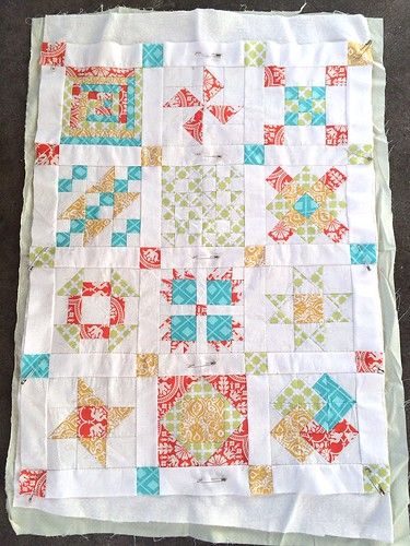 Hand Pieced Quilt Along Basted