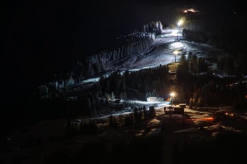 snow night lights schweiz switzerland suisse ostschweiz svizzera rheintal piste rhinevalley sargans pizol pizolbahn