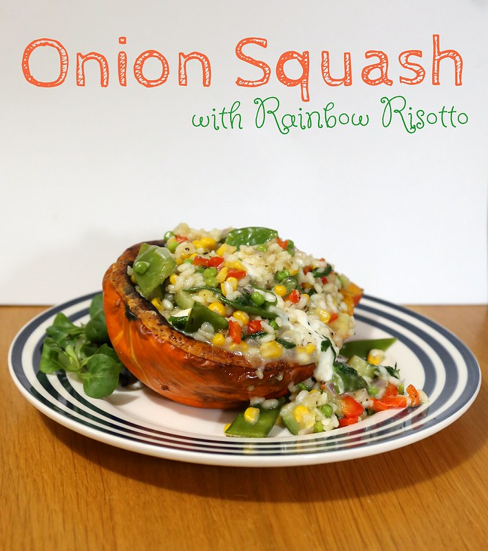 Onion Squash with Rainbow Risotto