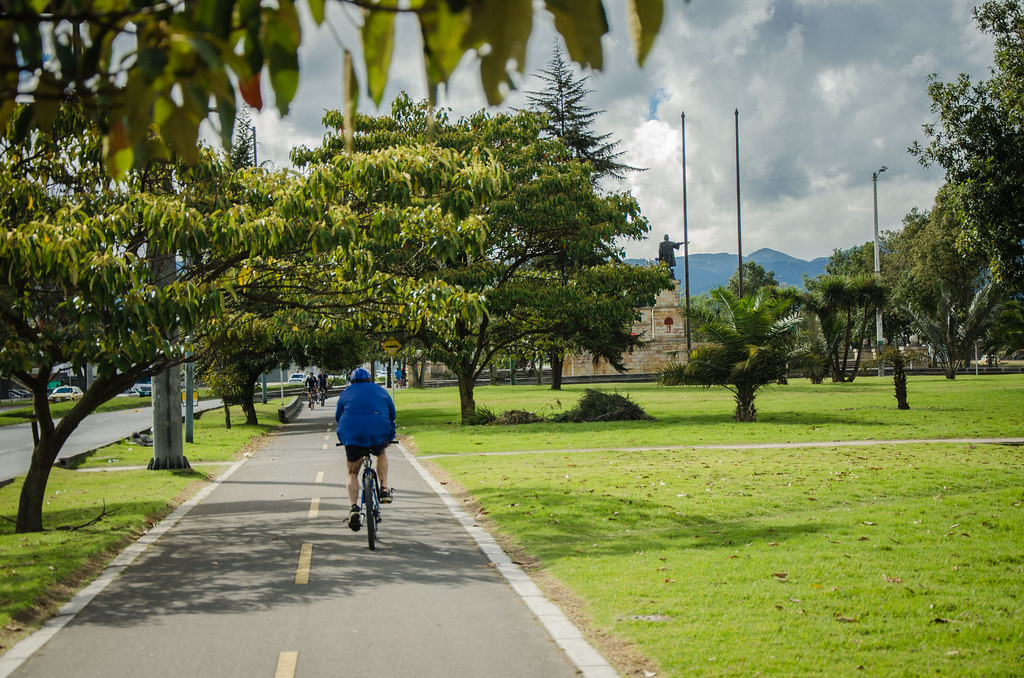 Carril bici en Bogotá