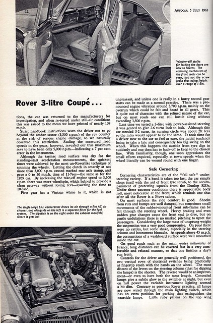 Rover 3 Litre Coupe P5 Road Test 1963 (3)