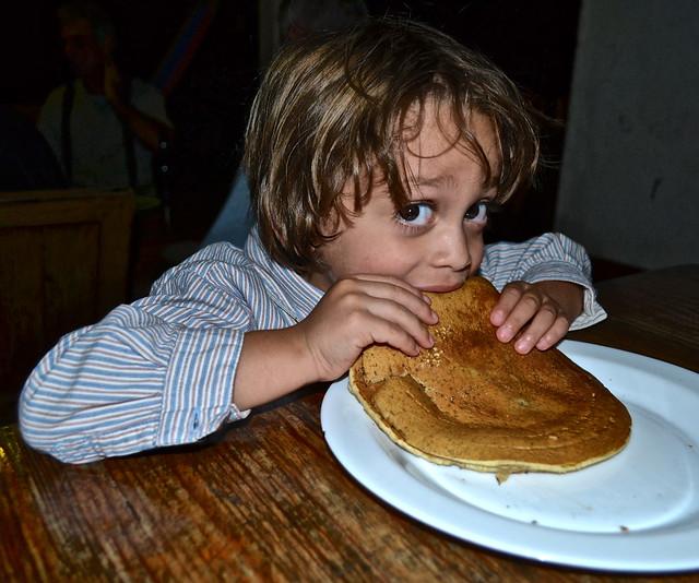 finca ixobel - breakfast - pancake