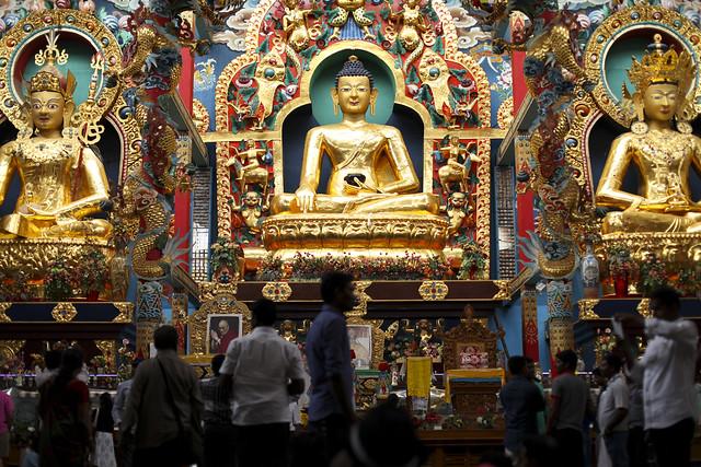 Golden Buddhas in Bylakuppe