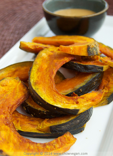 Roasted Kabocha Squash with Peanut Sauce