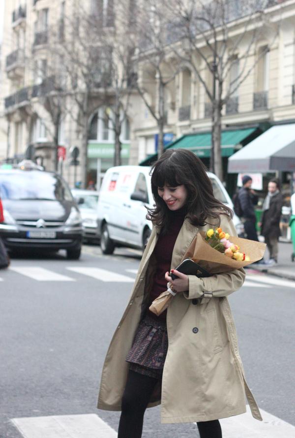 קניות בפריז, אופנה בפריז, מעיל טרנץ