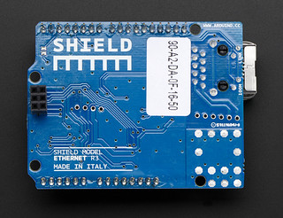 Arduino Ethernet shield R3 with micro SD connector - Assembled
