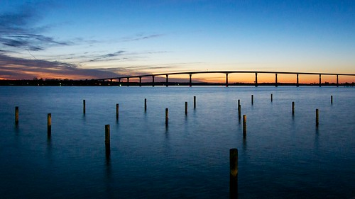 longexposure bridge sunset twilight bluehour patuxentriver pwpartlycloudy