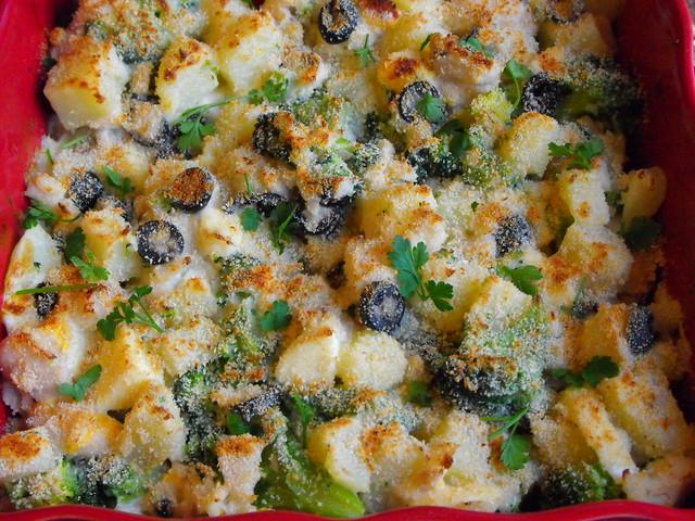 Salada de peixe no forno