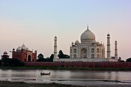Taj Mahal across the river