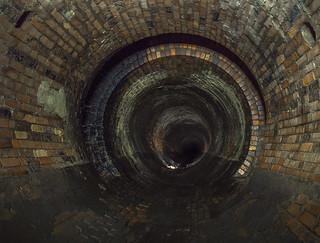 Urbex brick storm drain