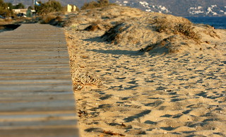Obraz Plaka Beach. summer beach sand greece naxos