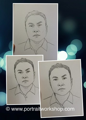 portrait in pencil for Mediacorp