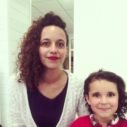 Mère et fille coiffer #lanuitdelacoiffure #loreal #nozay #ourlittlefamily #france